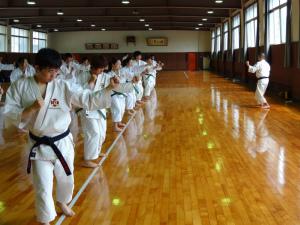 広島県大学少林寺拳法部合同練習